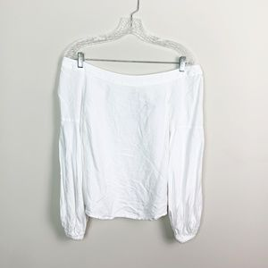 Anthropologie   off the shoulder blouse white 8